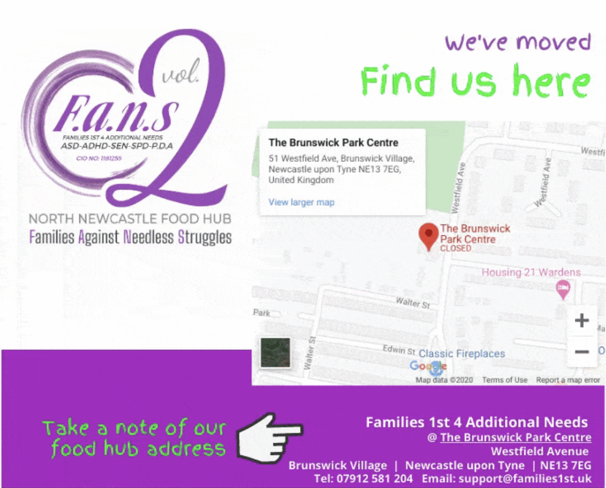 families 1st 4 additional needs location