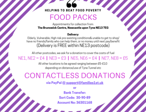 Food Packs – making contactless donations